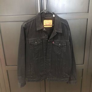 Levi's black trucker jacket